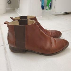 Nine west brown chelsea boots